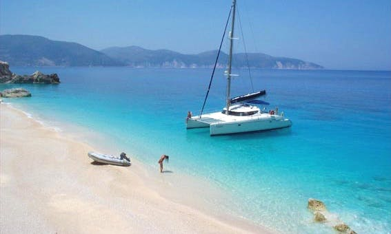 Catamaran charting cruises Lavezzi 40 Lefkada Ionian islands