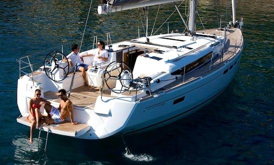 51' Jeanneau Sun Odyssey Sailing Mega Yacht Rental In Volos, Greece