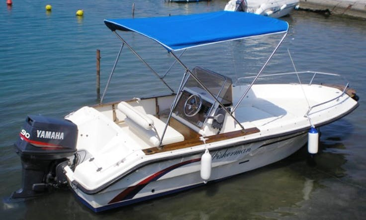 16' Center Console for 6 Person Ready to Rent in Rab, Croatia