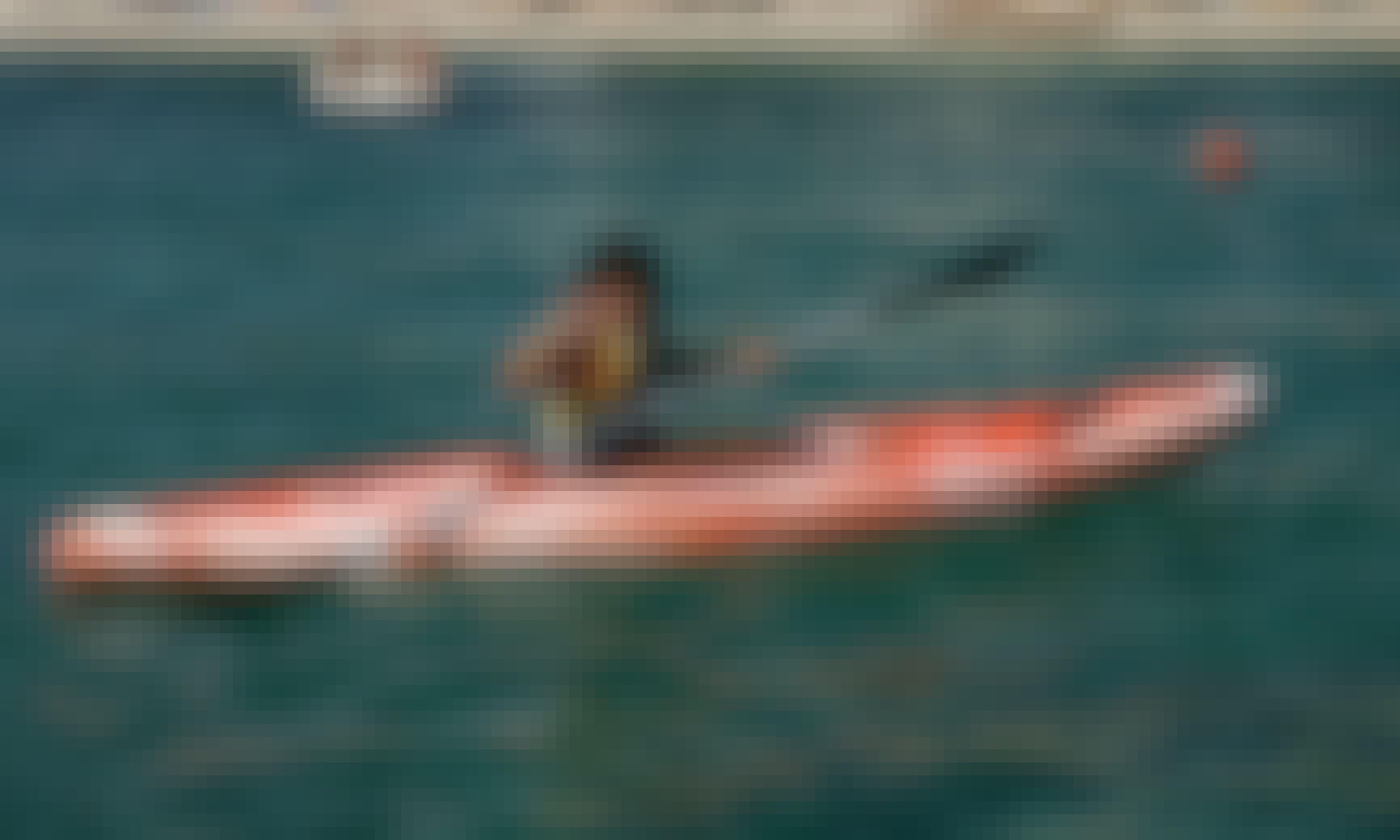 Fun experience of canoeing in Pefkari, Thassos