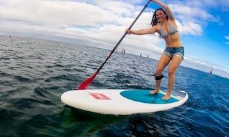 Balance on the paddle board in Pefkari, Thassos