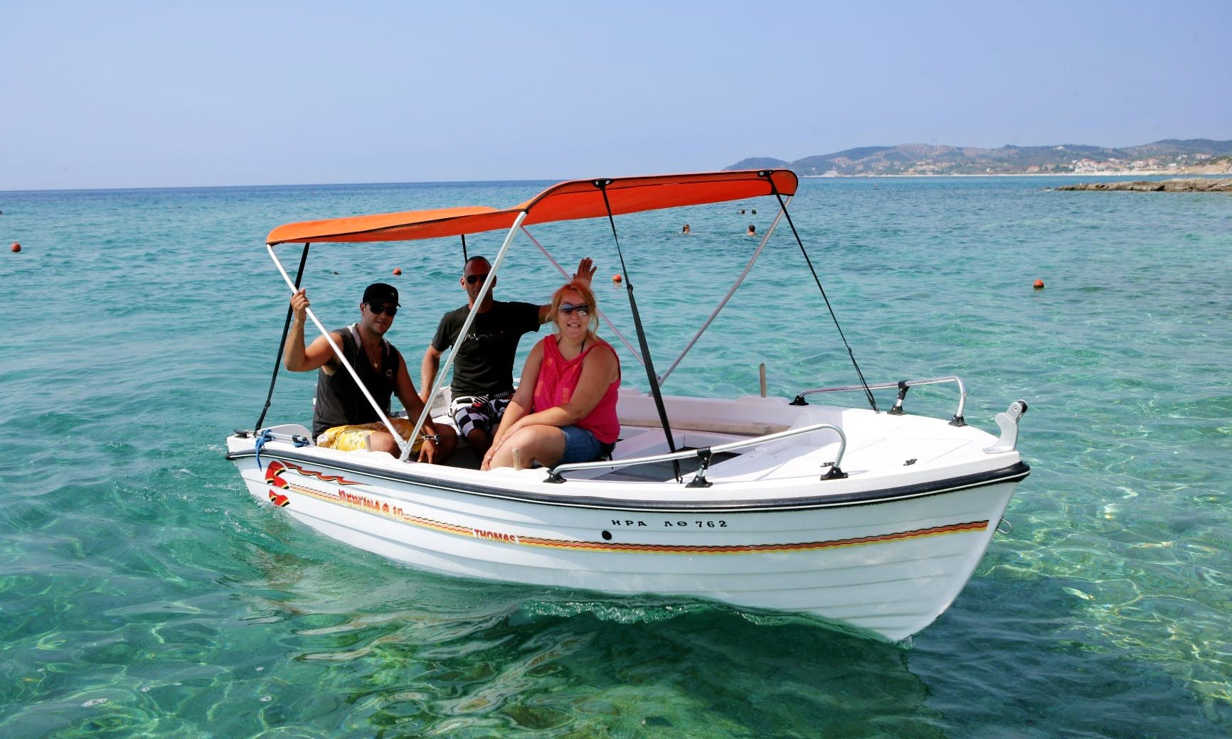 14 ft dinghy rental in Pefkari, Thassos for 4 people