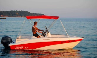 COMPASS 150 CC 30 HP (2018) for 5 people rental in Pefkari, Thassos