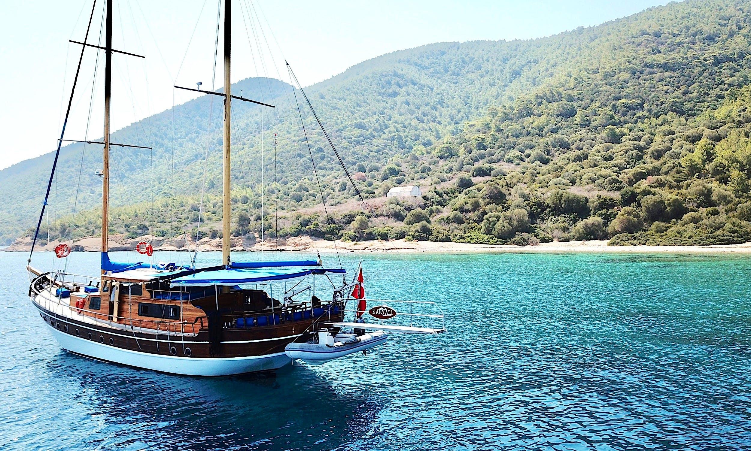 Charter 71' Carian Sailing Gulet in Muğla, Turkey