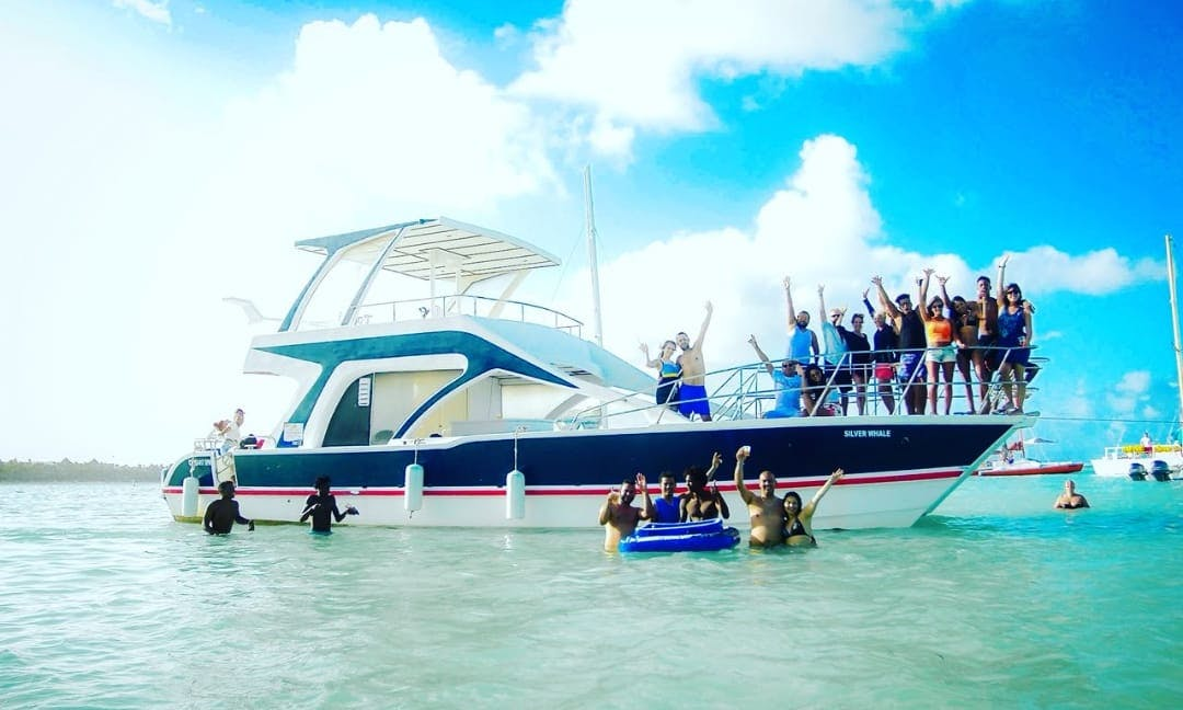 Experience an unforgettable outing on board power catamaran in Hato Mayor, Dominican Republic