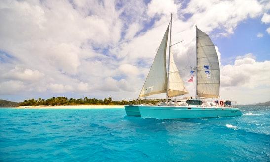Sail Around Shelter Island And Sunset Beach With 63' Cruising Catamaran