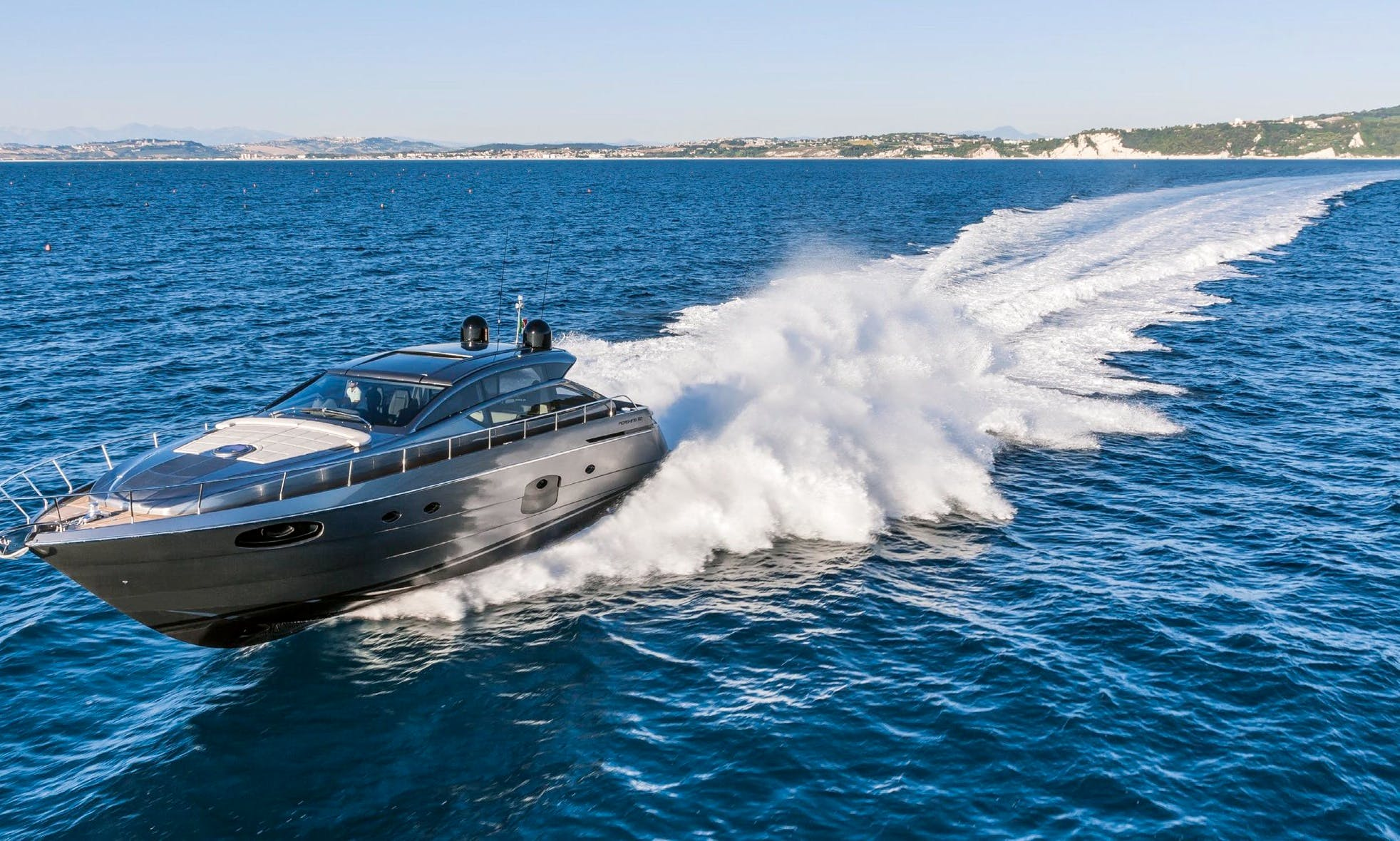 James Bond-esque Type of Experience and Ride with Pershing 62 Motor Yacht in Sag Harbor, New York