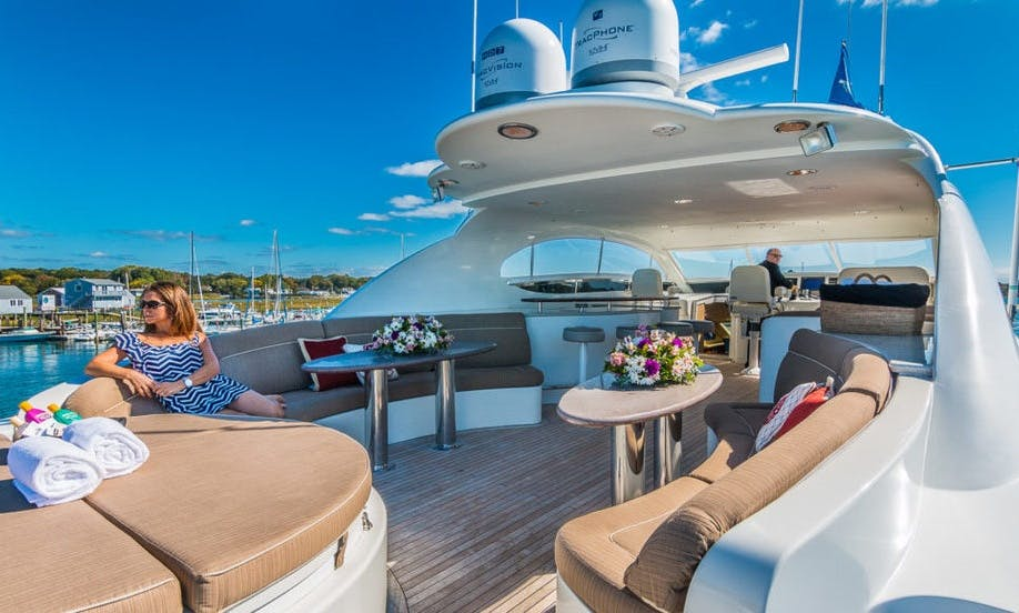 106′ Lazzara Power Mega Yacht for Charter (No Sunday) in Sag Harbor, New York