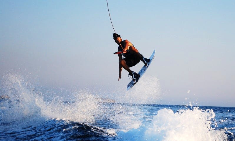 Fantastic Water Skiing experience in Keramoti, Greece