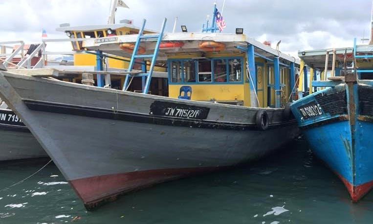 Go fishing on 75' JN7115 Traditional Trawler in Kota Kinabalu, Sabah