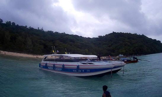 Discover Phi Phi Island In Thailand Aboard A 35 People Cuddy Cabin