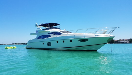 Rent A Yacht In Miami - 62' Azimut - Miami, Florida Keys & Bahamas!