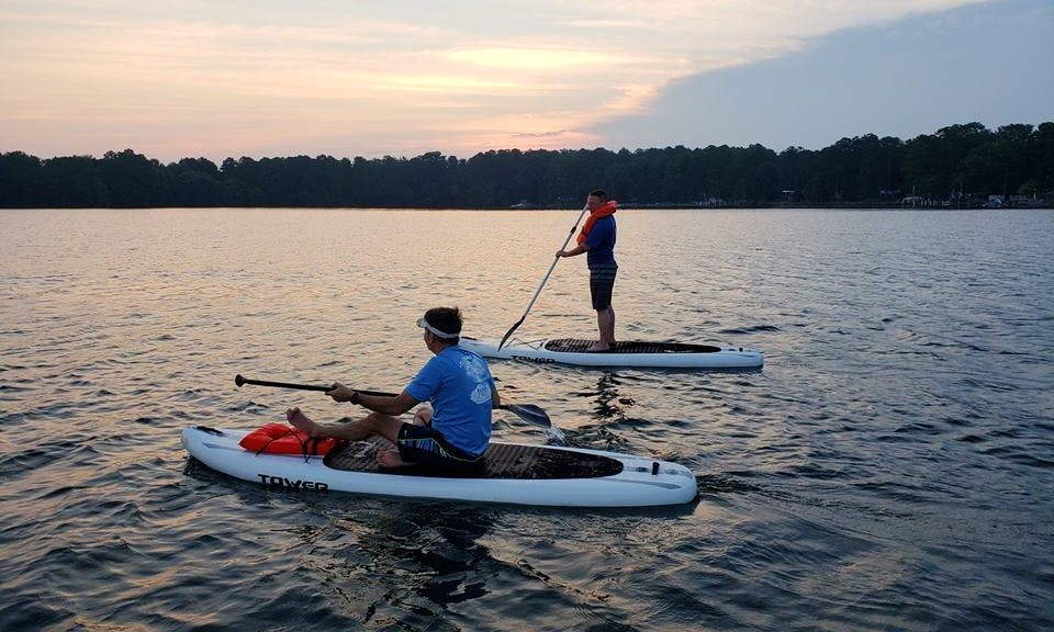 Rent a Paddleboard and walk in the water of Murray, South Carolina