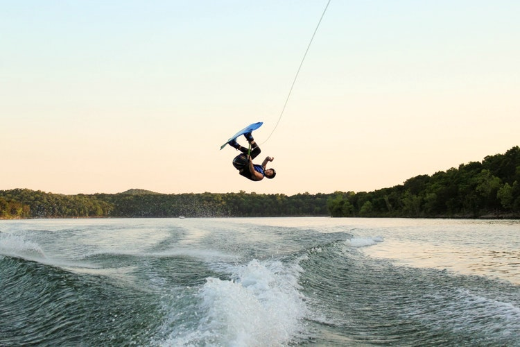 Wakeboarding on Lake Geneva