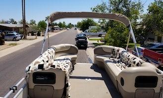 25' Sun Tracker Pontoon for rent at Lake Pleasant