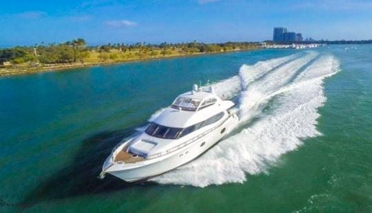 Luxury Yacht Party Rental - 84' Lazzara - Miami, Florida Keys, The Bahamas