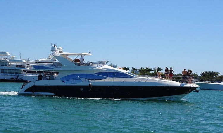 Luxury Yacht Rentals - 70' AZIMUT - Miami, Florida Keys, The Bahamas!