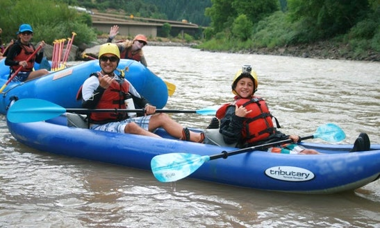 Whitewater Adventures With 2 Person Inflatable Kayak In Glenwood Springs, Colorado