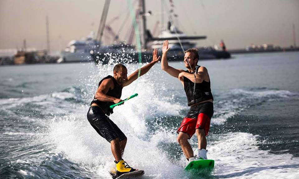 Sport boat with Wakeboarding & Wakesurfing