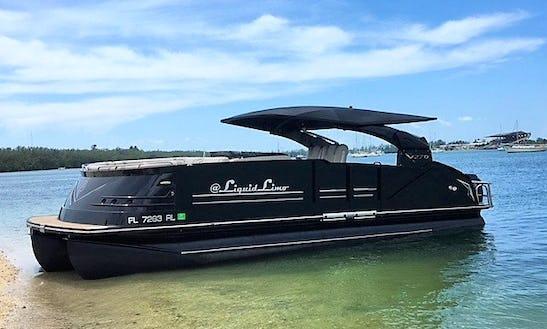Luxury Pontoon Boat Rental In Jacksonville Beach