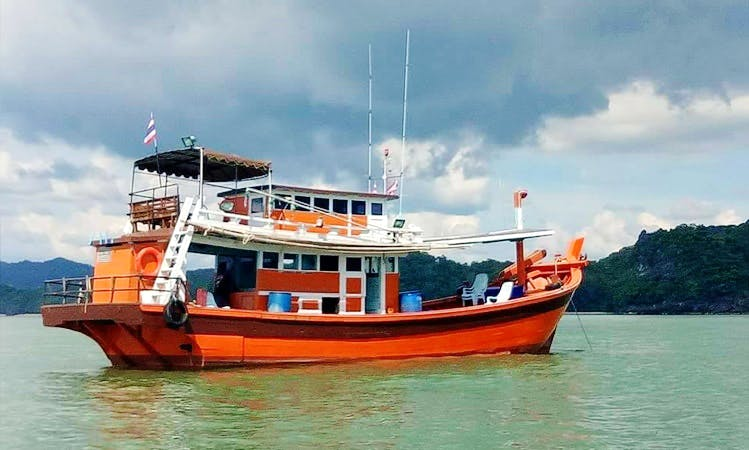 Have an amazing fishing experience in Satun, Thailand on Traditional Trawler