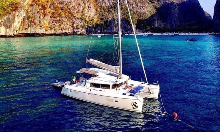 Set the sail aboard this Lagoon 42 Cruising Catamaran in Chonburi, Thailand