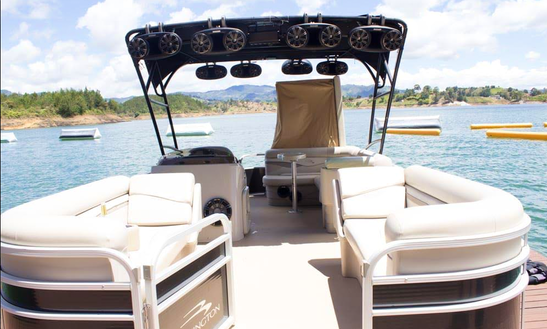 Reserve A Bennington Pontoon In Guatape, Colombia For 13 Person!