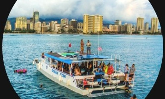 Charter A Deck Boat In Honolulu, Hawaii For Up To 42 Persons On Your Next Boat Party