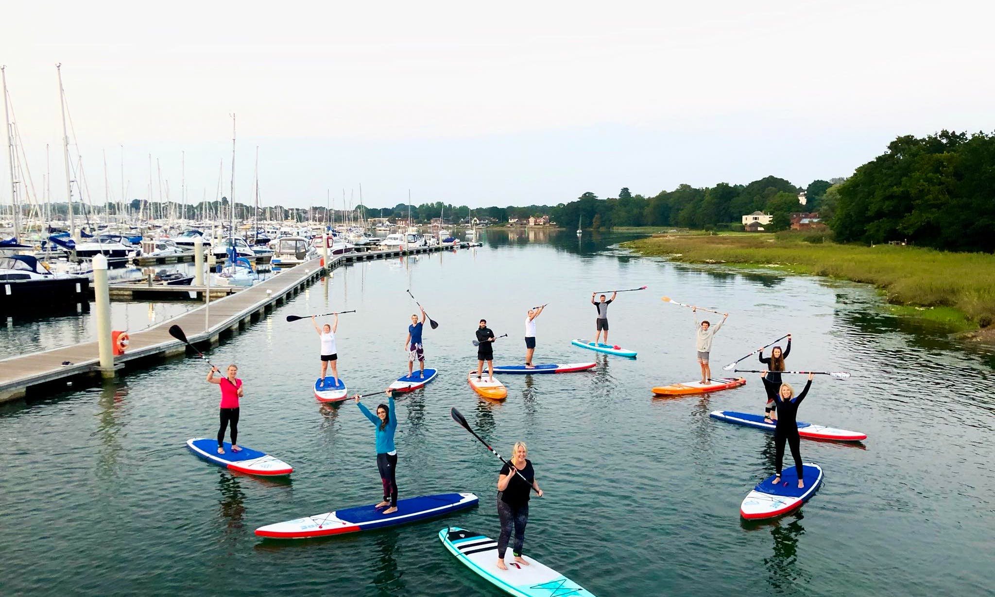 Stand Up Paddleboarding on Hamble River with Caring Instructors!