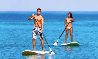 Exciting Stand Up Paddleboarding Lesson in Sdot Yam, Israel
