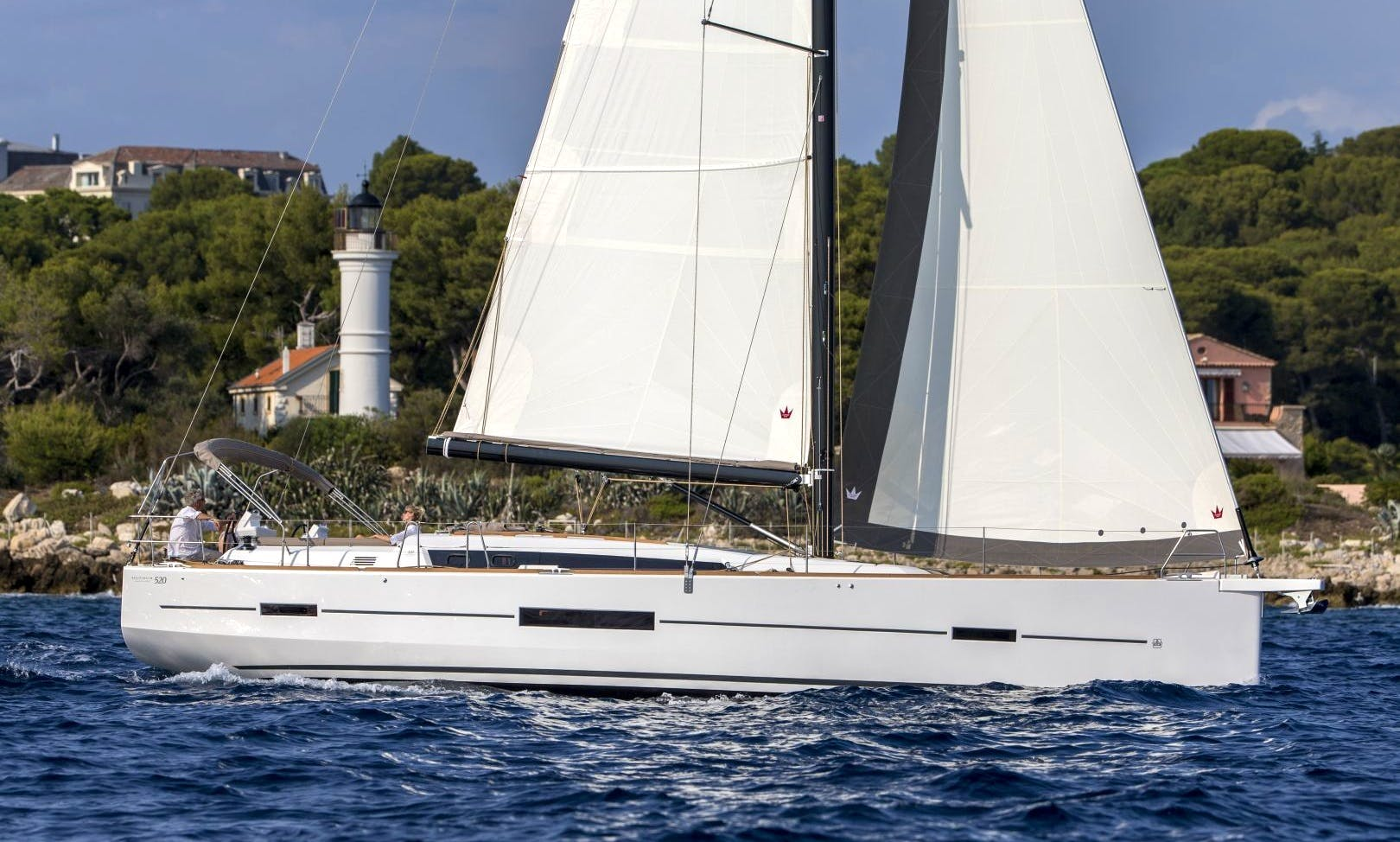 50ft Dufour 520 Cruising Monohull Charter for 8 People in Ljubljana, Slovenia
