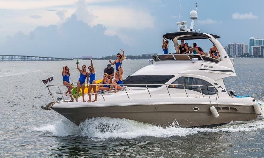 """SoBe-it"" Sea Ray Sedan Bridge with Jet Ski departing out of Miami Beach"