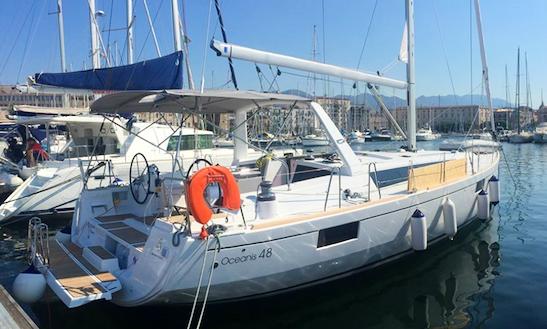 Charter 48' Beneteau Oceanis 48 Cruising Monohull In Messina, Italy