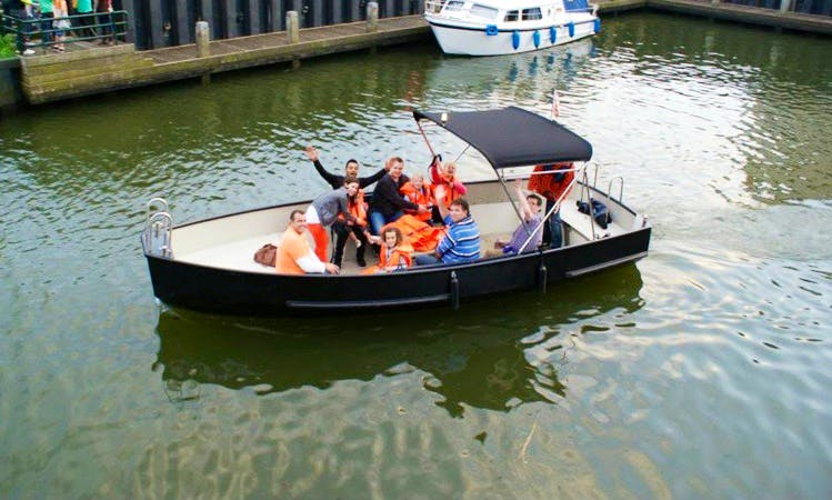 Rent 21' Electric Boat and River Tour in Geertruidenberg, Netherlands