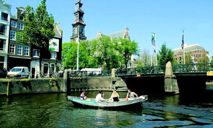 18' Canal Boat Rental in Amsterdam, Netherlands