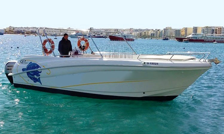 Full Day Fishing Trip in Maltese Islands, Malta