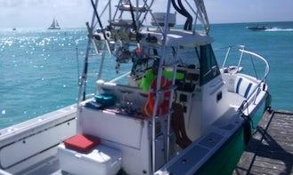 Sportfishing & Snorkeling Charter in Aruba aboard the Boston Whaler Offshore 27 Boat