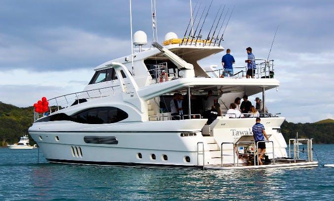 Charter a 81ft Dyna Laguna Super Yacht in Auckland, New Zealand