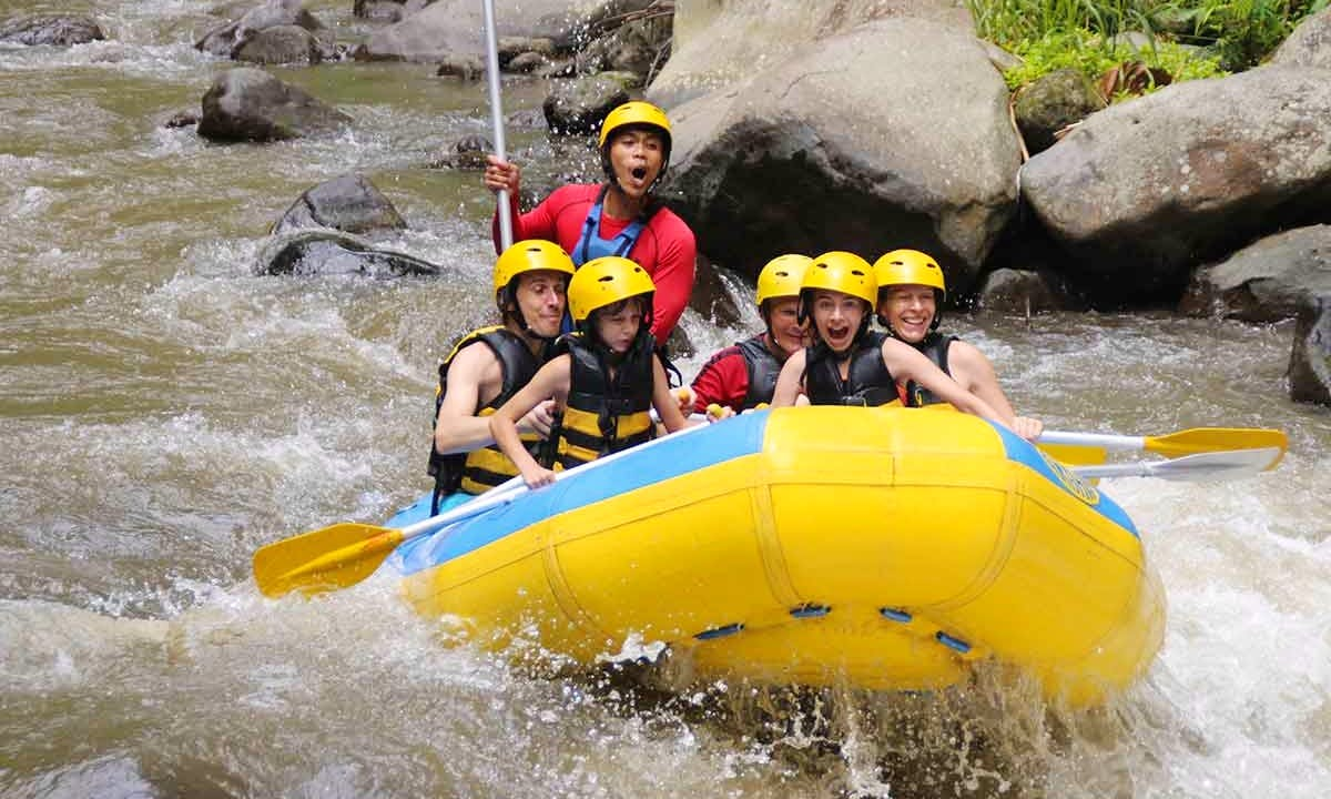 Guided Ayung River Rafting in Ubud, Indonesia!
