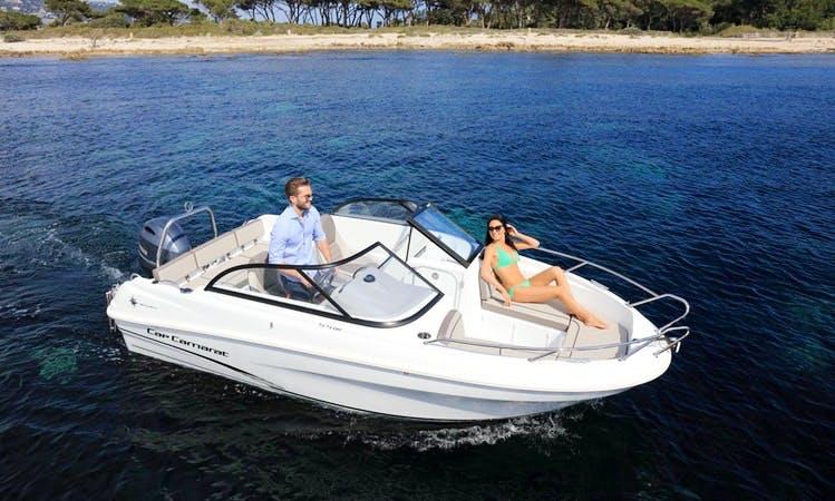 Rent a Cap Camarat 5.5 Bowrider for 6 Person in La Rochelle (License Required)