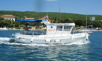 Taxi Boat Excursions onboard 26' Semideplasman Boat in Punat