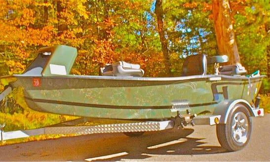 Guide Fishing Trip On Dinghy In Baldwin, Michigan