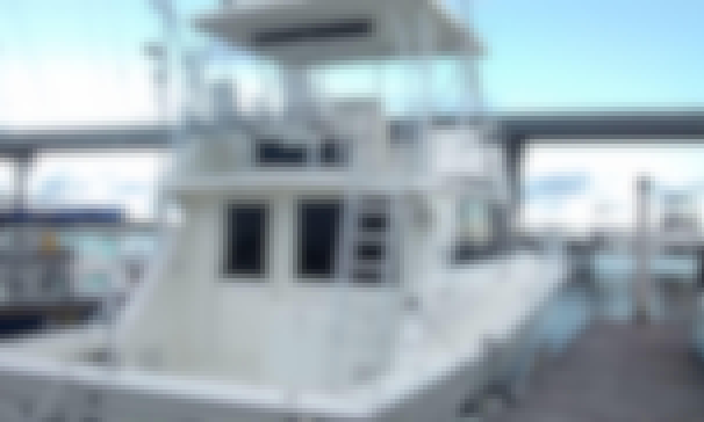 41' Viking for harbor cruise in Charleston