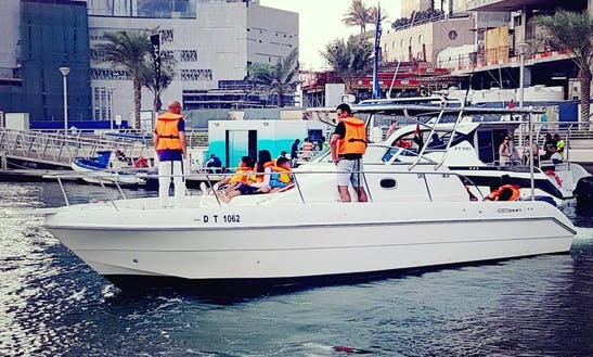 33 Foot Motor Yacht Rental Great For Fishing Charters Too In Dubai