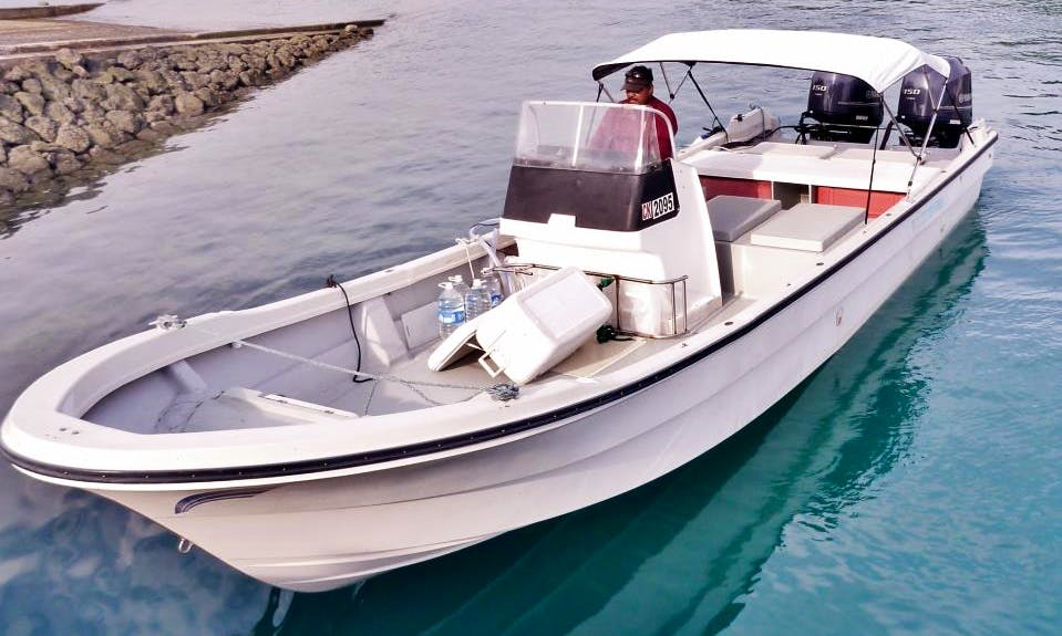 Fishing Trip for 4 People in a 29' Yamaha Japanese Style Center Console in Koror City, Palau