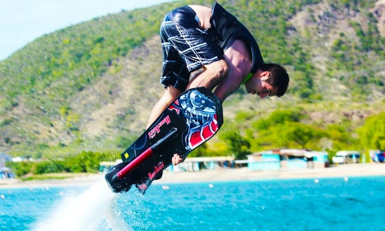 Surf The St. Kitts Sky On A Hoverboard!