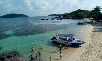 Speedboat tour to the South - Fingernail - Dam Ngang - May Rut islets.