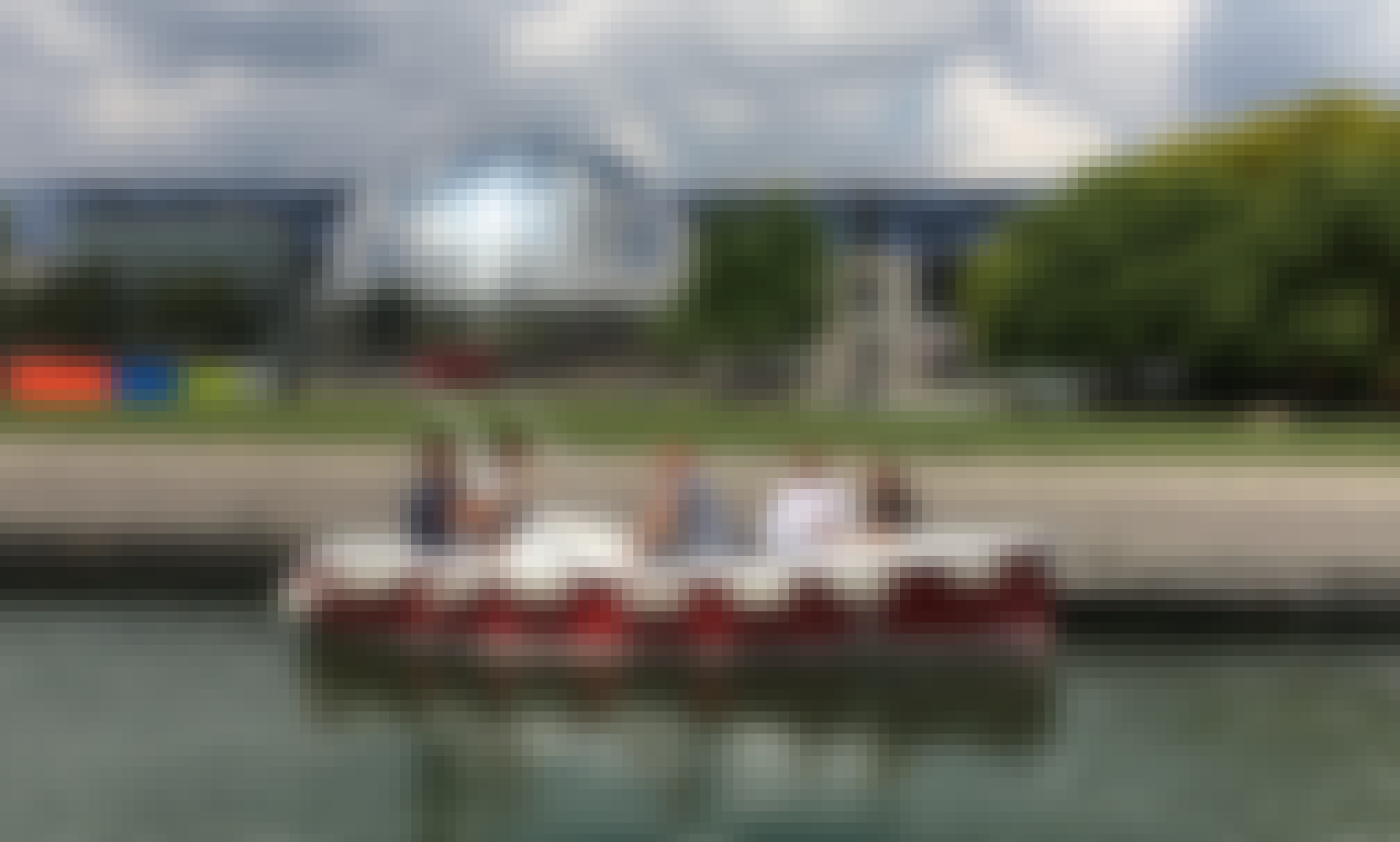 Electric Boat for 5 Person to Ready to Explore the Old Paris Canal