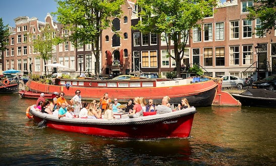 Rent A 28 Person Dutchman Luxurious Open Boat In Amsterdam, Netherlands