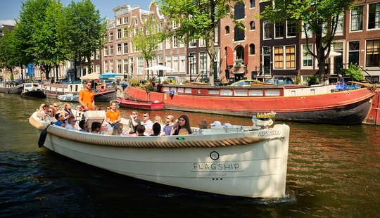 35 Person Apsara Luxurious Open Boat For Rent In Amsterdam, Netherlands